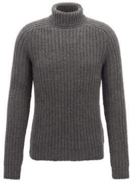 BOSS Hugo Fashion Show Capsule turtleneck sweater in cashmere M Grey