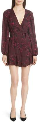 A.L.C. Embry Print Silk Wrap Dress