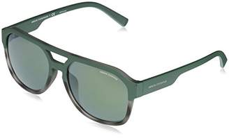 Armani Exchange Men's Plastic Man Non-Polarized Iridium Rectangular Sunglasses