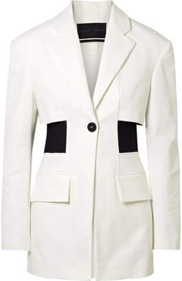 Paneled Cotton-blend Twill Blazer - Off-white