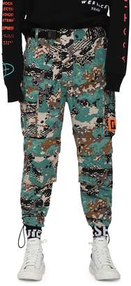 Diesel P-Luza Camouflage Cargo Trousers