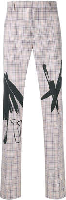Calvin Klein X Andy Warhol checked trousers