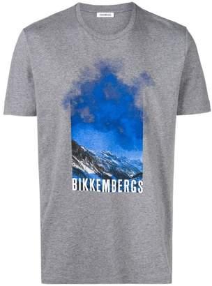 Dirk Bikkembergs mountain print T-shirt