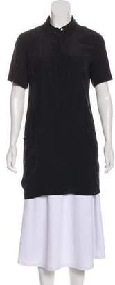Equipment Short Sleeve Silk Tunic