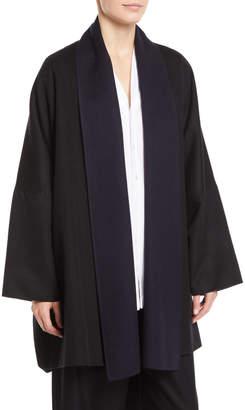 eskandar Shawl-Collar Open-Front Paneled Back Cashmere Coat