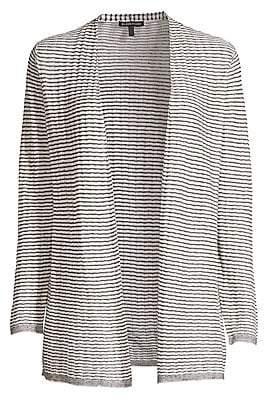 Eileen Fisher Women's Organic Linen Blend Striped Cardigan Sweater