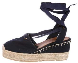 Ralph Lauren Lace-Up Wedge Espadrilles