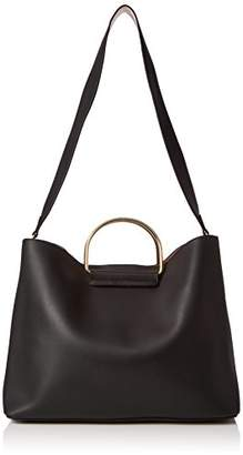 Dorothy Perkins Womens Metal Handle Shopper Shoulder Bag