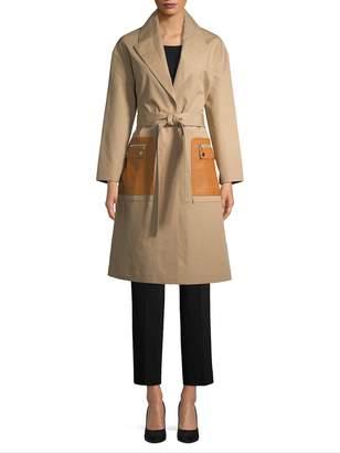 Yves Salomon Women's Mackintosh Leather Pocket Trench Coat