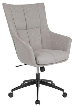Barcelona Flash Furniture Home and Office Upholstered High Back Chair in Light Gray Fabric