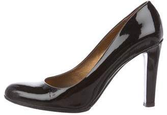 Miu Miu Patent Leather Round-Toe Pumps