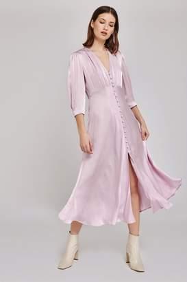 f2f6b0fce531e4 Ghost Womens London Purple Madison Satin Dress - Purple