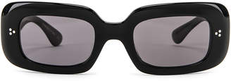 Oliver Peoples Saurine Sunglasses in Black & Grey | FWRD