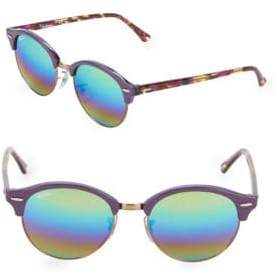Ray-Ban 51MM Violet Round Sunglasses