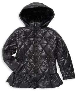 Urban Republic Baby Girl's Faux Fur-Trimmed Puffer Jacket