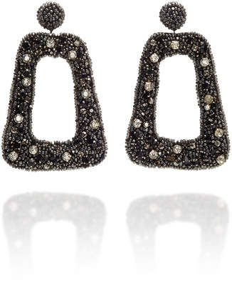 Deepa Gurnani Beaded Square Drop Earrings