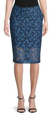 HUGO Riami Lace Midi Skirt