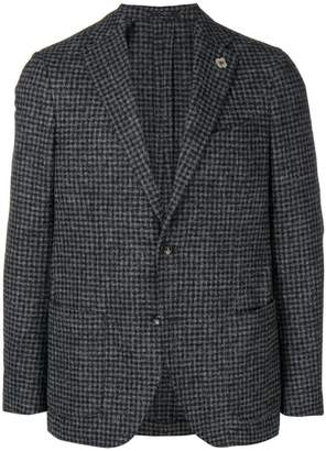Lardini checkered print jacket