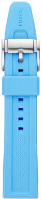 Fossil 22mm Light Blue Silicone Watch Strap