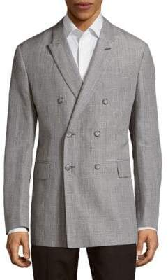 Façonnable Check Notch Lapel Jacket
