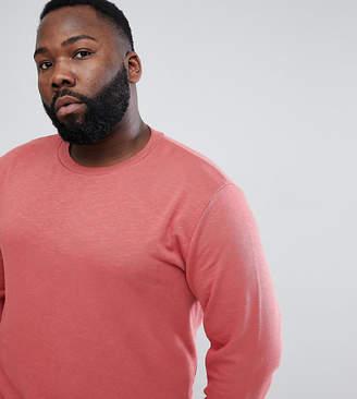 Asos Design DESIGN Plus sweatshirt in red interest fabric