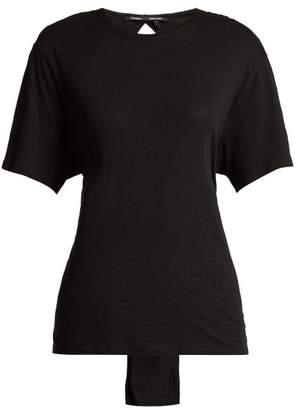 Proenza Schouler - Tie Waist Cotton T Shirt - Womens - Black