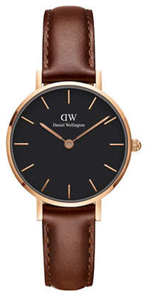 Daniel Wellington Classic Petite Rose Goldtone Stainless Steel Leather Strap Watch