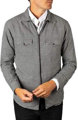 Eton Check Cotton Zip Cardigan