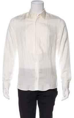 Gucci Silk-Blend Tuxedo Shirt