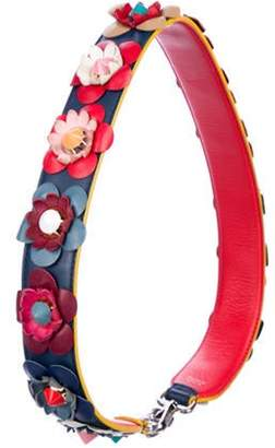 Fendi Flowerand Strap You Shoulder Strap silver Flowerand Strap You Shoulder Strap