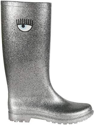 Chiara Ferragni Glittered Wellington Boots