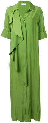 Lanvin draped ruffle shirt dress