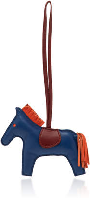 Hermes Heritage Auctions Special Collections Blue de Malte and Rouge H and Feu Milo Leather GriGri Rodeo Charm MM