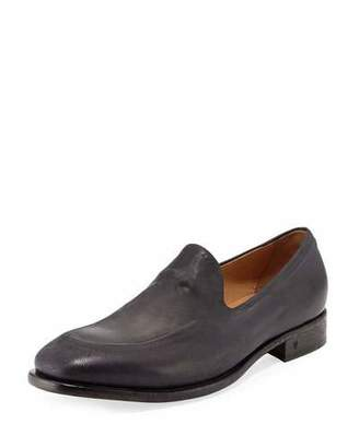 John Varvatos Fleetwood Ghosted Loafer, Mineral Black $748 thestylecure.com