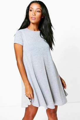 boohoo Rina Cap Sleeve Swing Dress $16 thestylecure.com