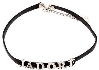 Christian Dior Jadore Leather Choker Necklace