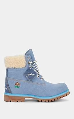 "Timberland Men's ""6-Inch"" Denim Boots - Blue"