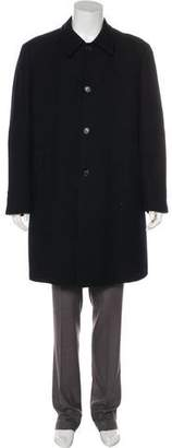 Prada Twill Virgin Wool Overcoat