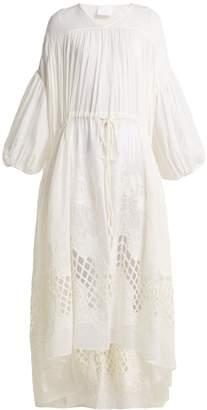 LOVE Guipure-lace cotton dress