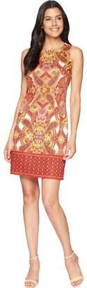 London Times Floral Paisley Sleeveless Shift Women's Dress