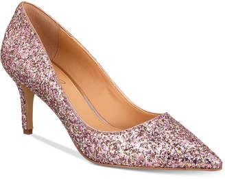 Badgley Mischka Lyla Glittered Evening Pumps Women Shoes