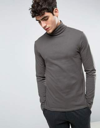 Kiomi Long Sleeve T-Shirt With Roll Neck