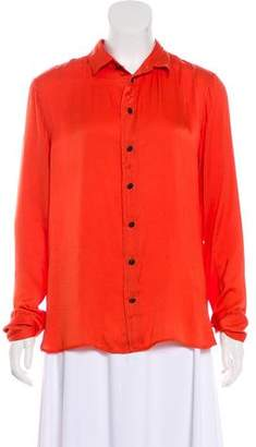 Rag & Bone Collared Button-Up Top