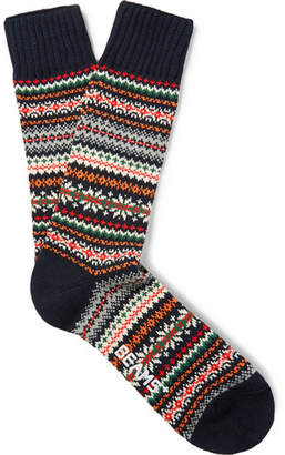 Beams Fair Isle Knitted Socks