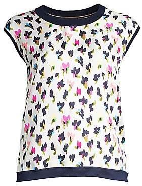 Escada Women's Sioran Wool Silk Abstract Floral Shell