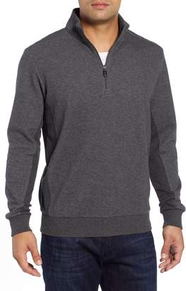 Bugatchi Quarter Zip Knit Sweater