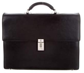 Gianni Versace Smooth Leather Briefcase