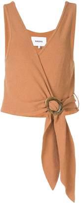 Nanushka terry knit wrap top