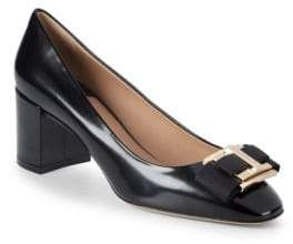 Salvatore Ferragamo Bow Leather Pumps