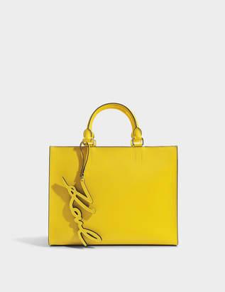 Karl Lagerfeld K/Signature Essential Shopper Bag in Sunflower Saffiano